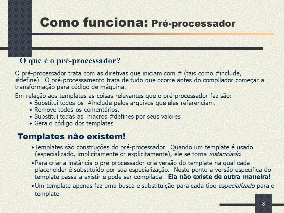 Como funciona: Pré-processador