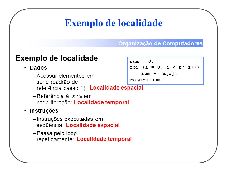Exemplo de localidade Exemplo de localidade Dados