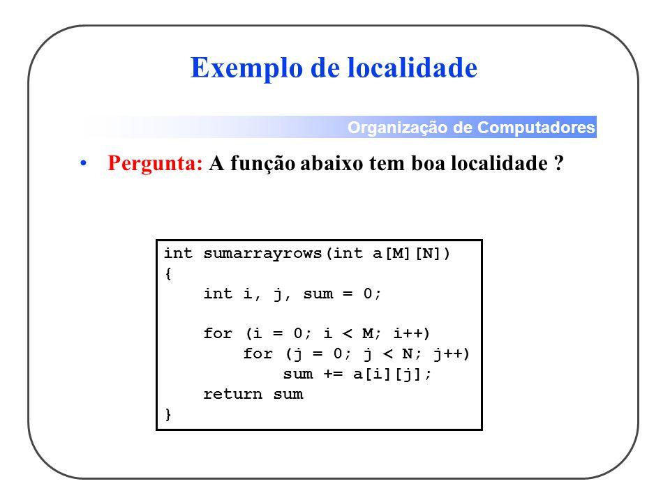 Exemplo de localidade Pergunta: A função abaixo tem boa localidade