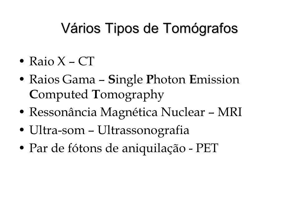 Vários Tipos de Tomógrafos