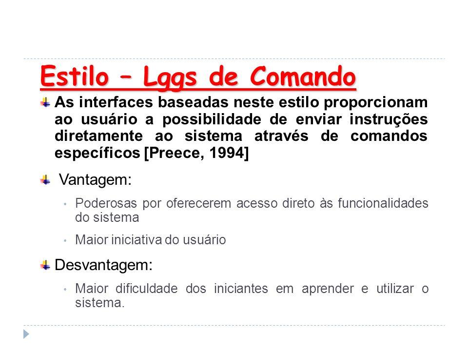 Estilo – Lggs de Comando