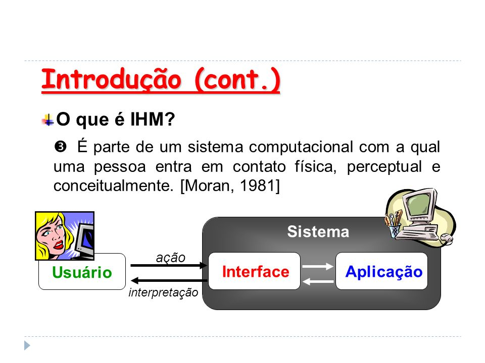 Introdução (cont.) O que é IHM