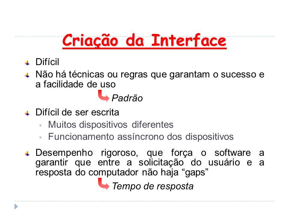 Criação da Interface Difícil