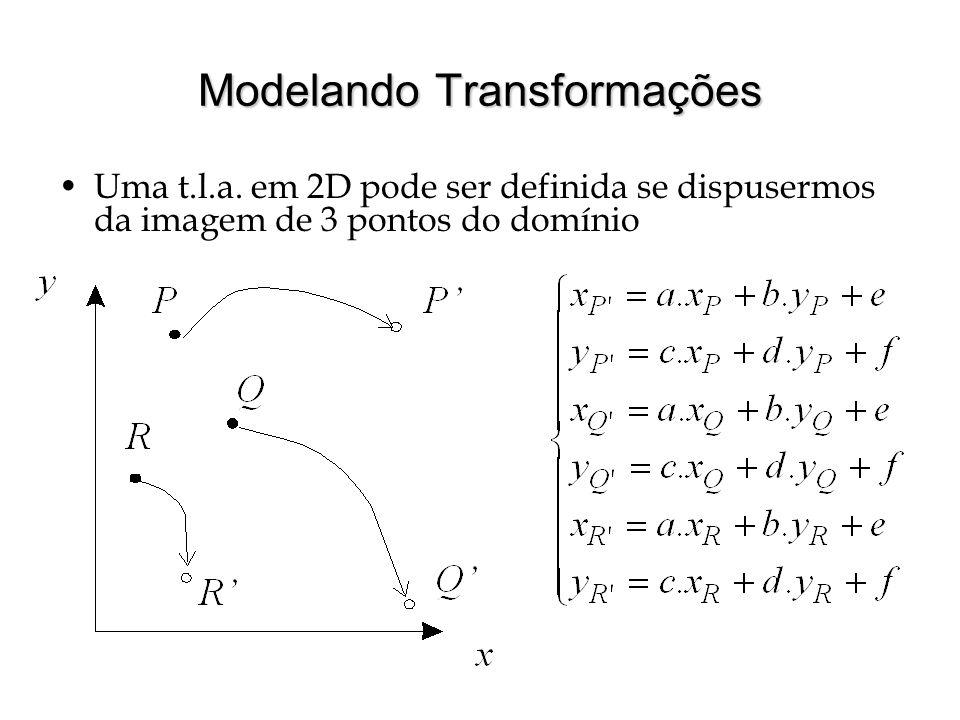 Modelando Transformações