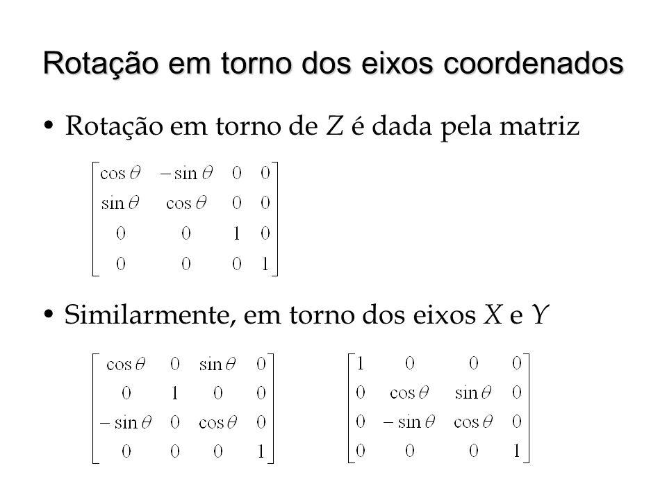 Rotação em torno dos eixos coordenados