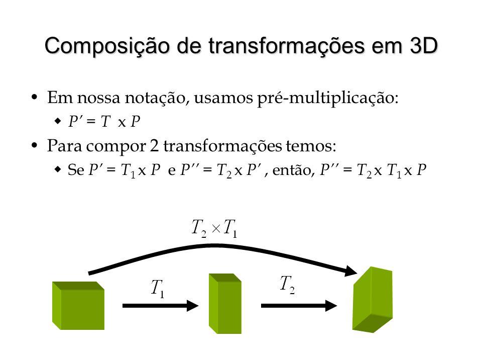 Composição de transformações em 3D