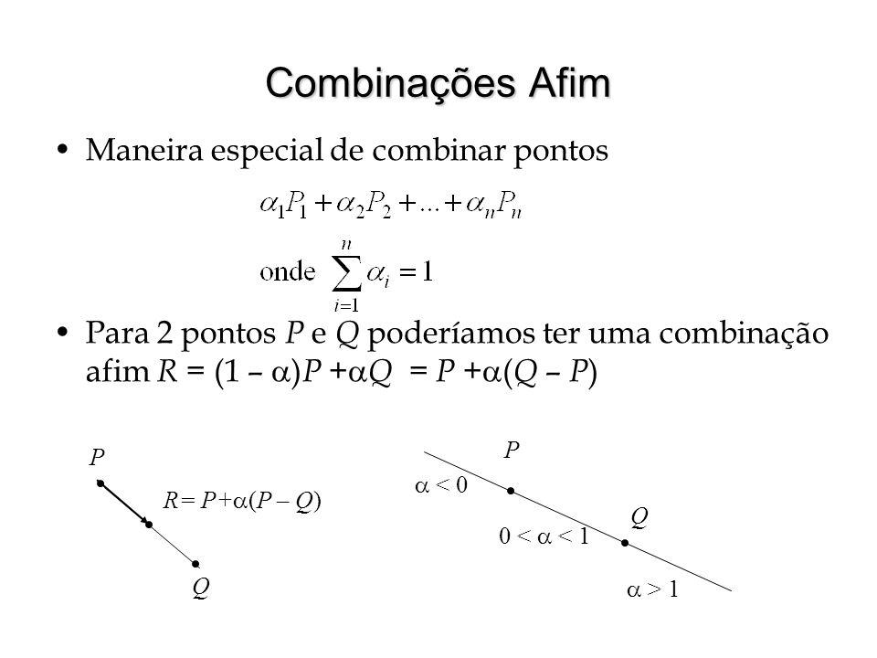Combinações Afim Maneira especial de combinar pontos