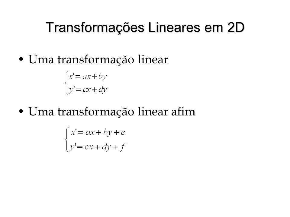 Transformações Lineares em 2D