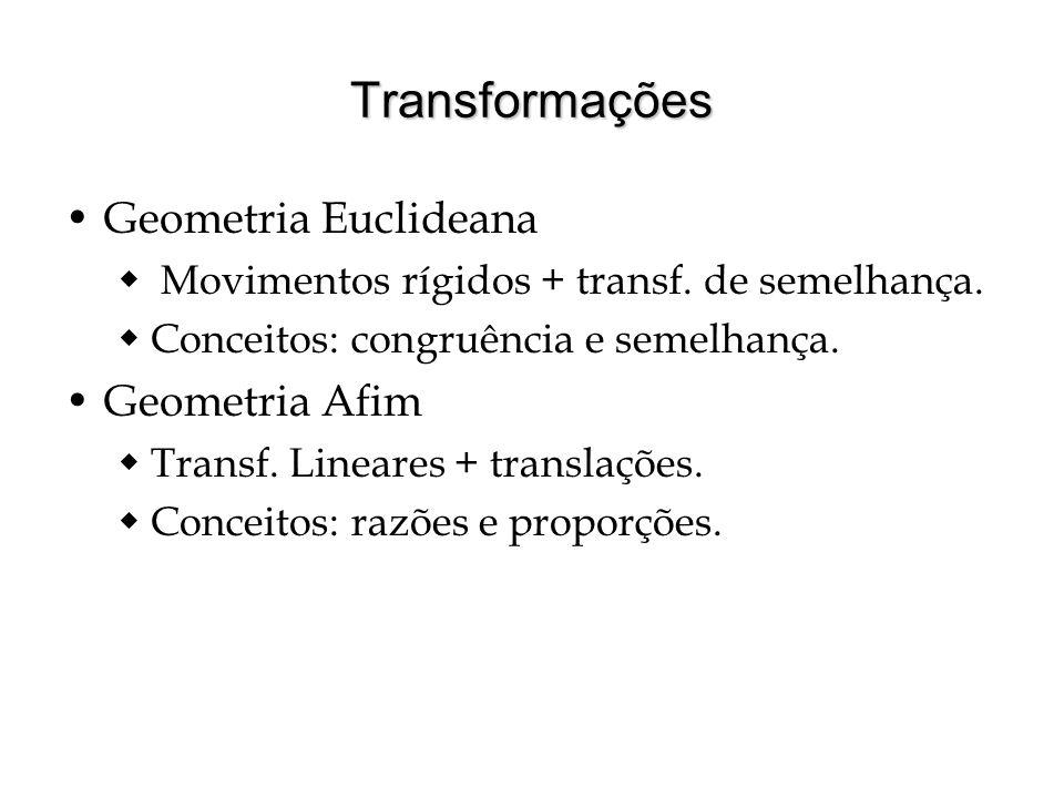 Transformações Geometria Euclideana Geometria Afim