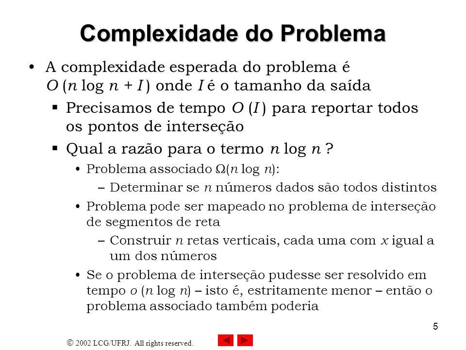Complexidade do Problema