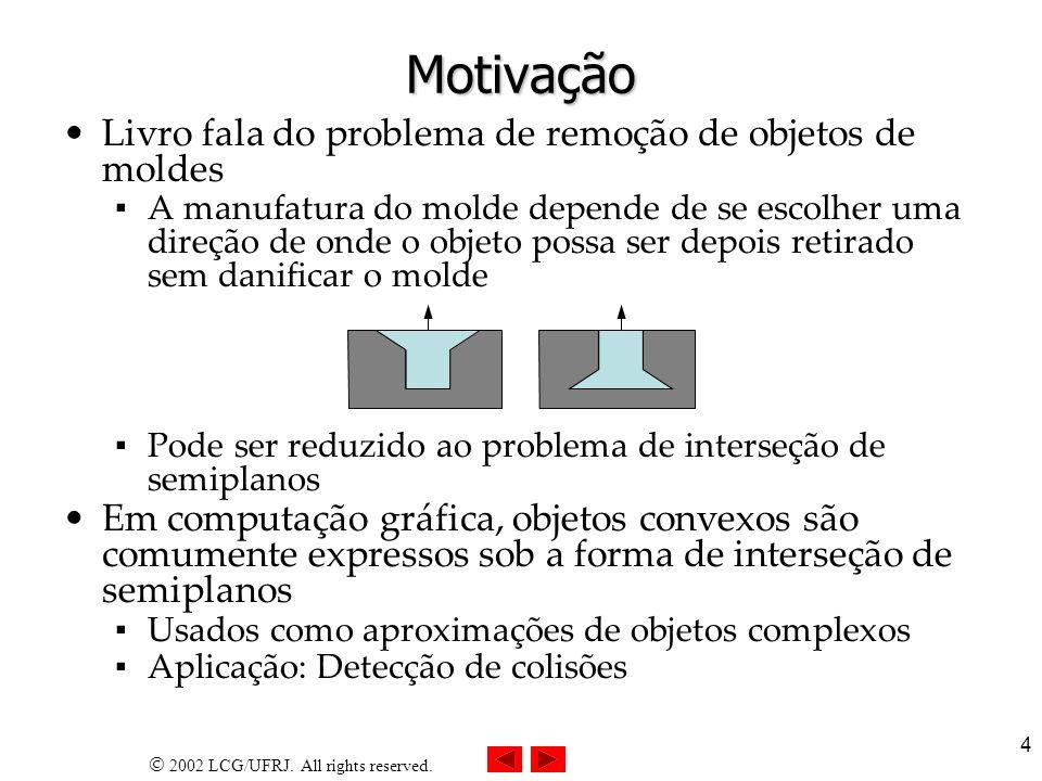 Motivação Livro fala do problema de remoção de objetos de moldes