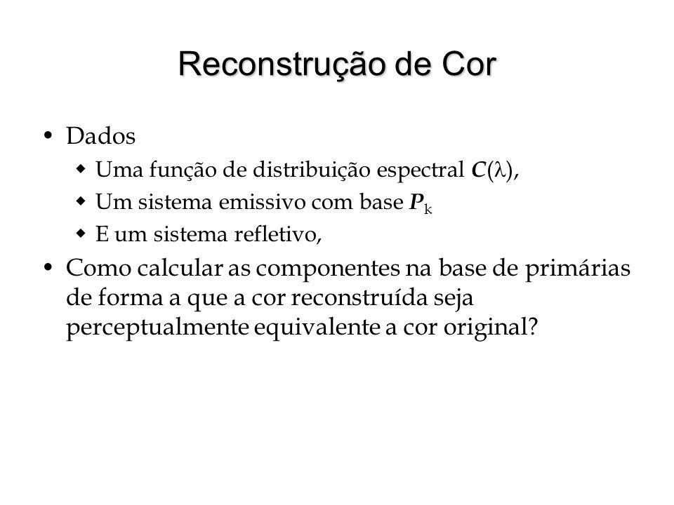 Reconstrução de Cor Dados