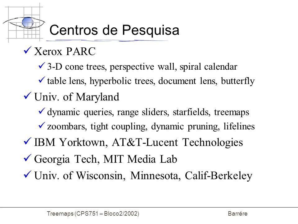 Treemaps (CPS751 – Bloco2/2002) Barrére