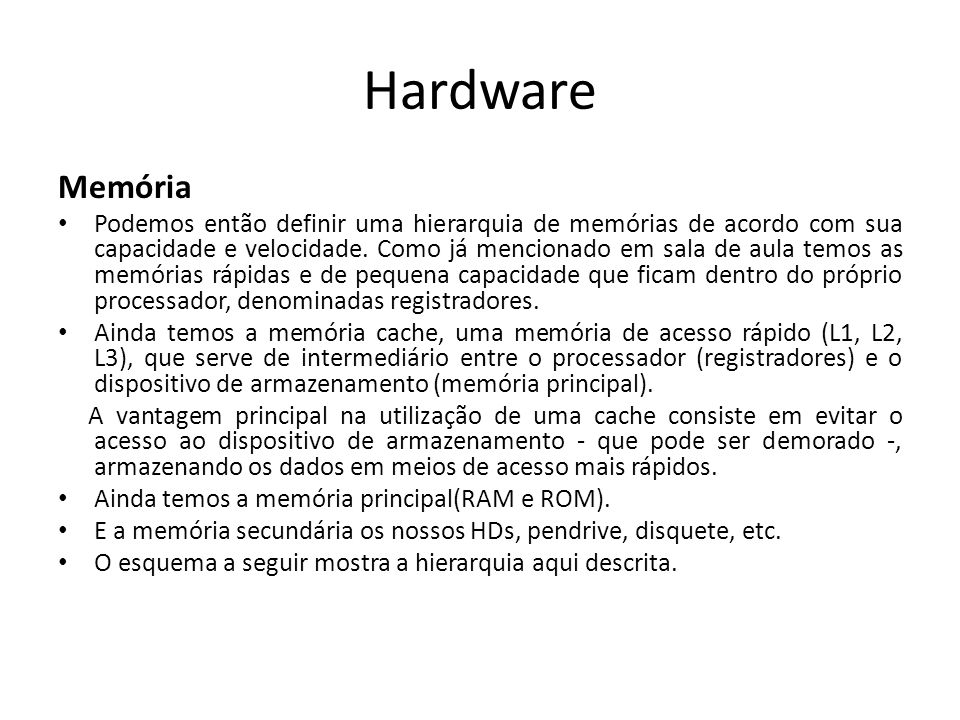 Hardware Memória.