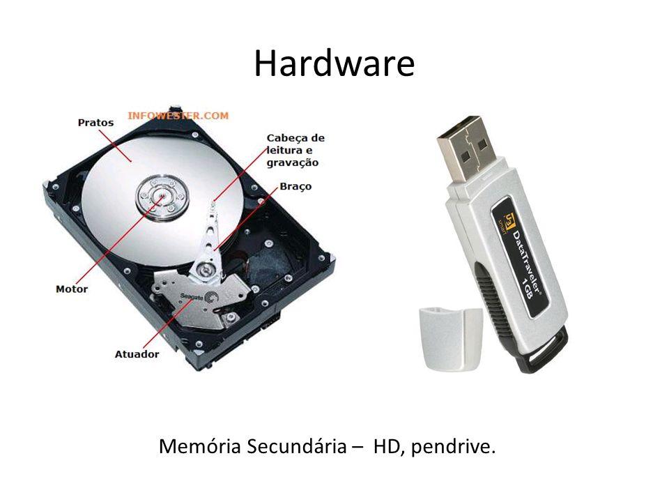 Memória Secundária – HD, pendrive.