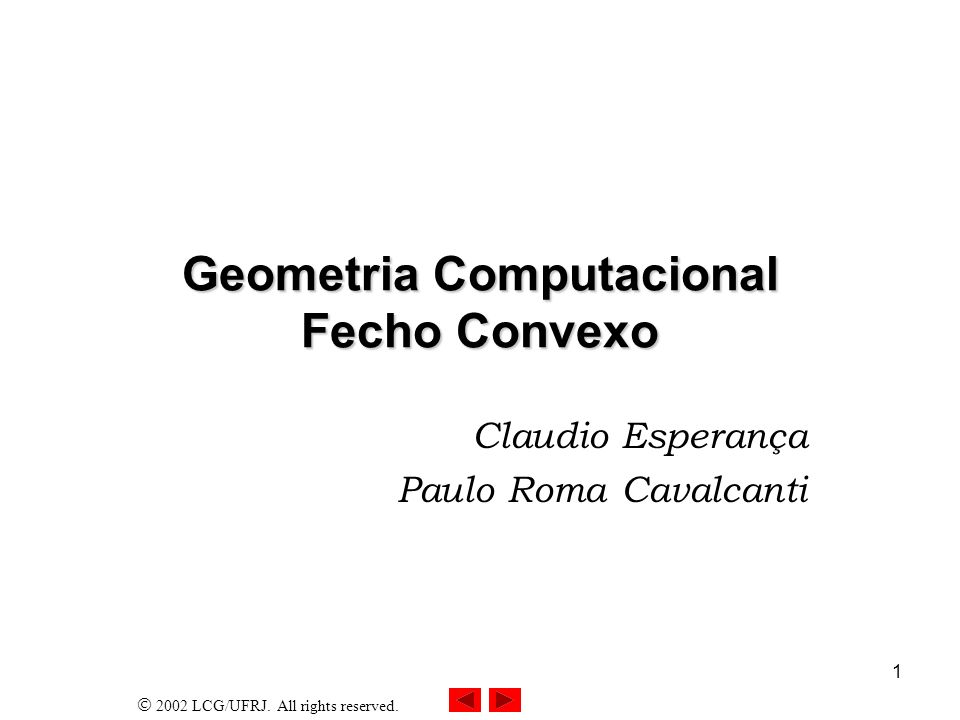 Geometria Computacional Fecho Convexo