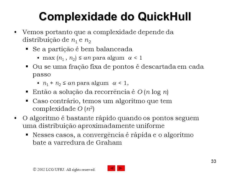 Complexidade do QuickHull