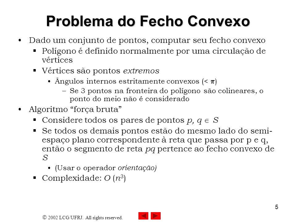 Problema do Fecho Convexo