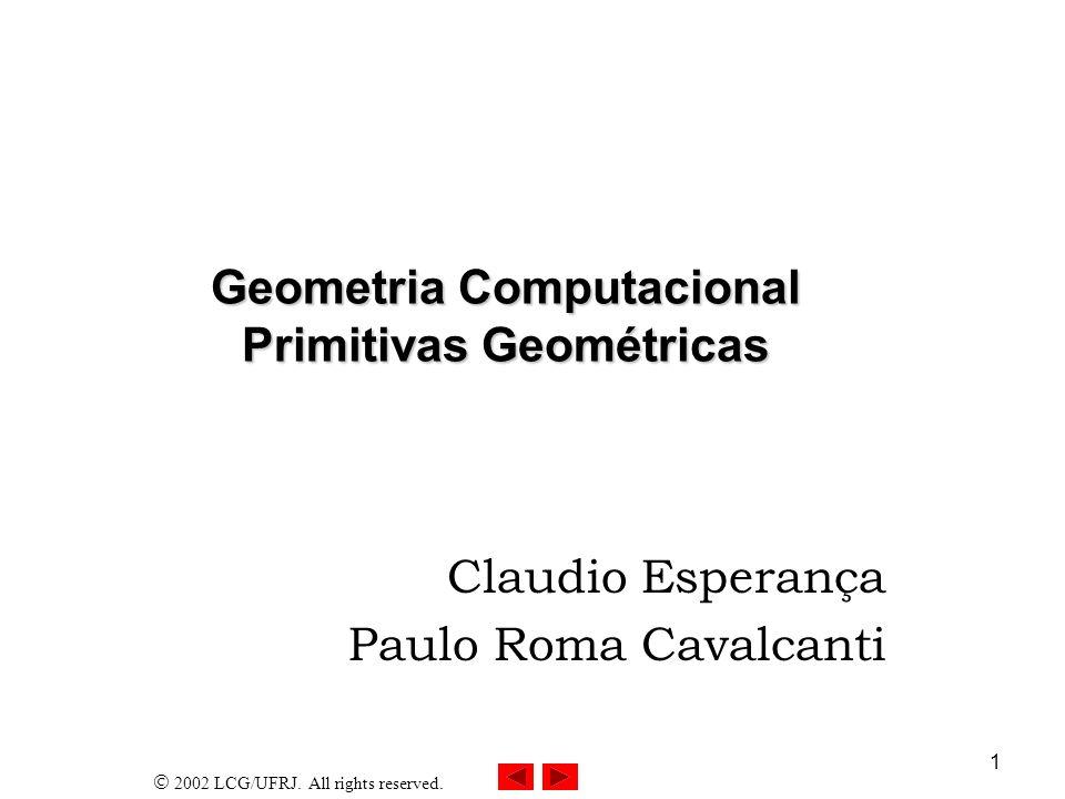 Geometria Computacional Primitivas Geométricas