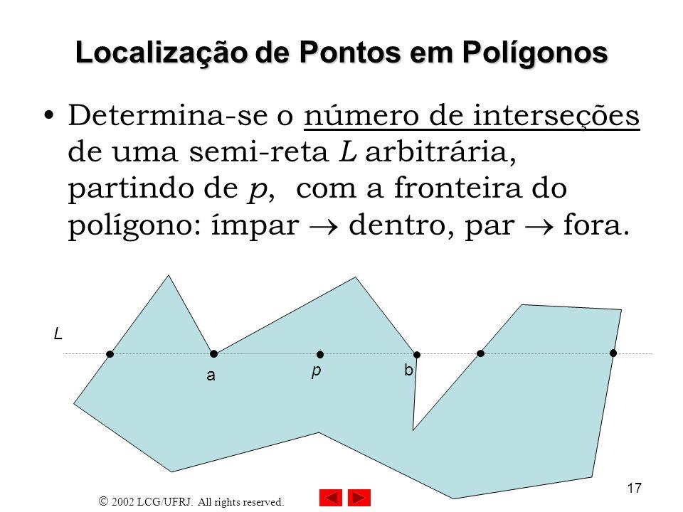 Localização de Pontos em Polígonos