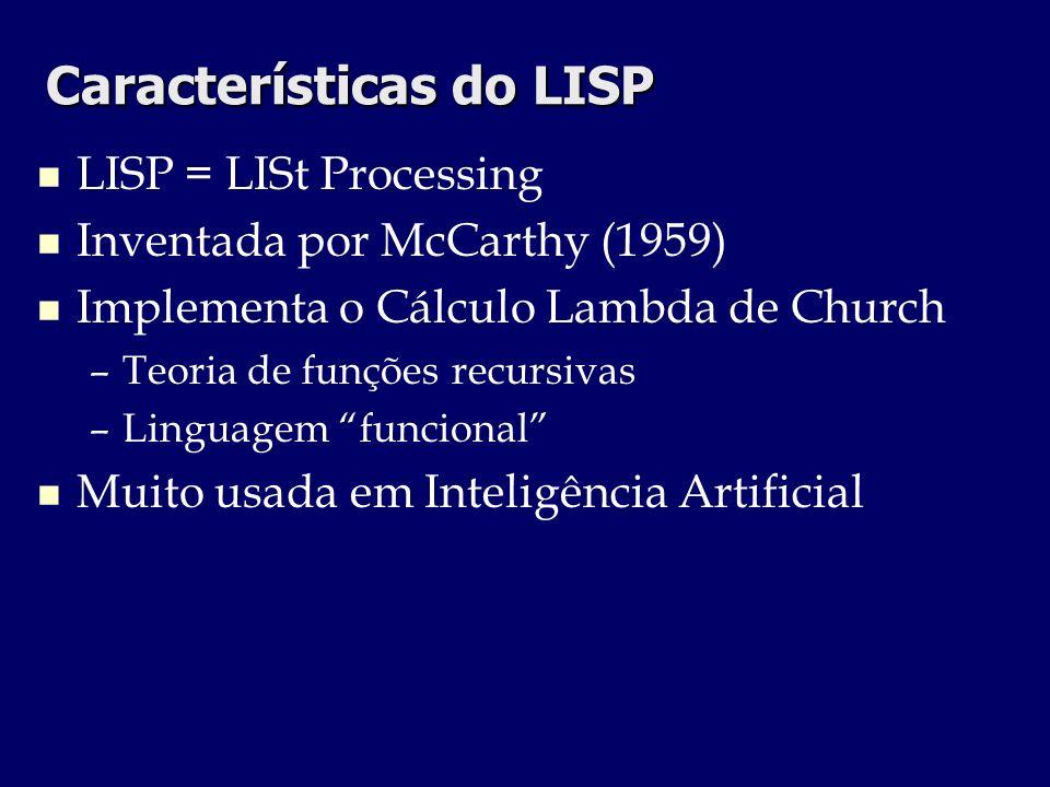 Características do LISP