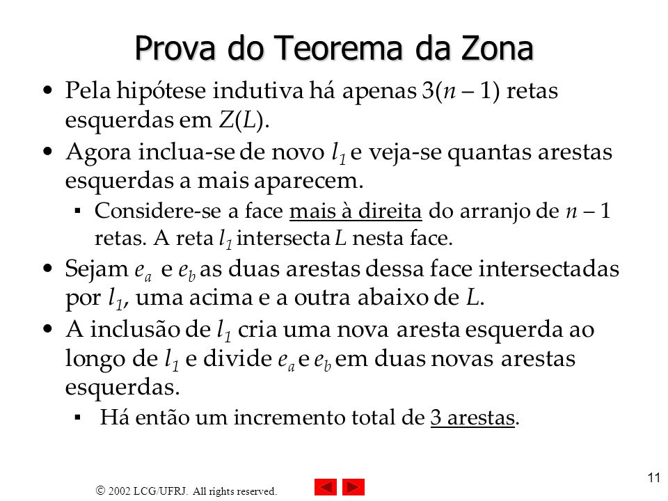 Prova do Teorema da Zona