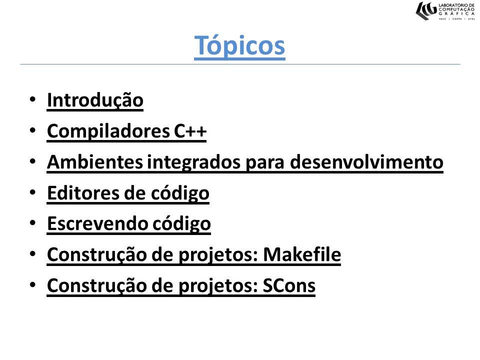 Tópicos Introdução Compiladores C++