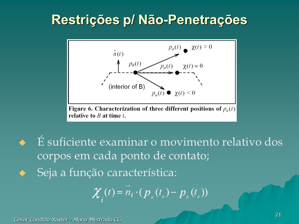 Restrições p/ Não-Penetrações
