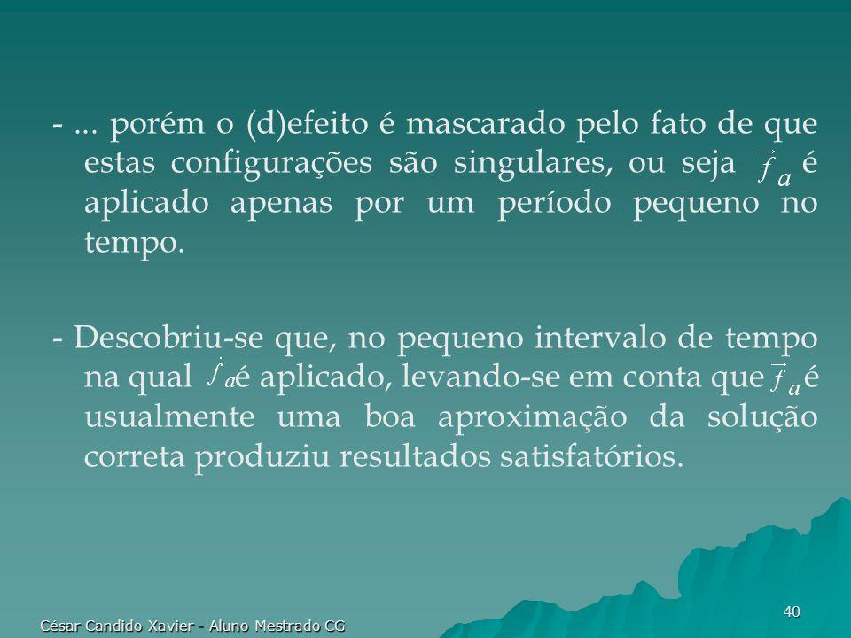 César Candido Xavier - Aluno Mestrado CG