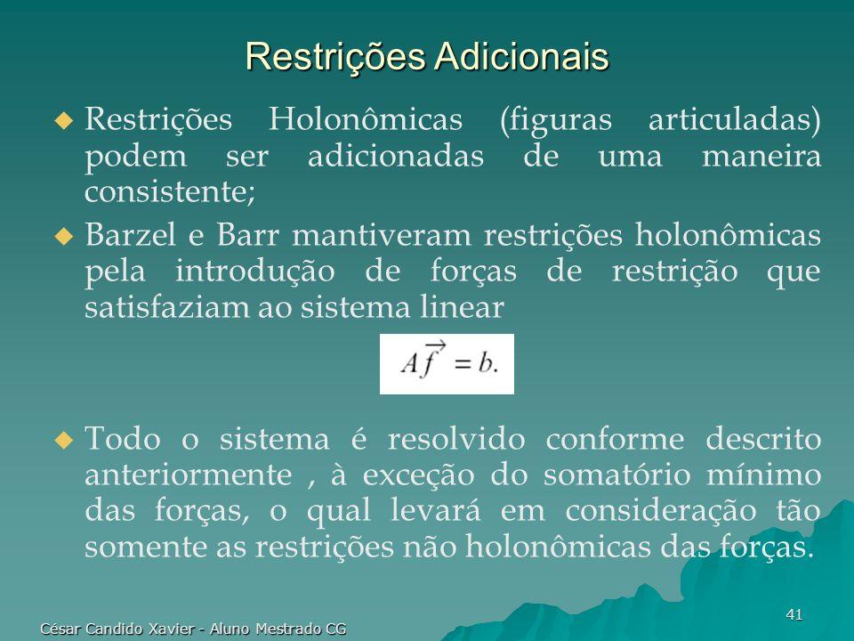 Restrições Adicionais
