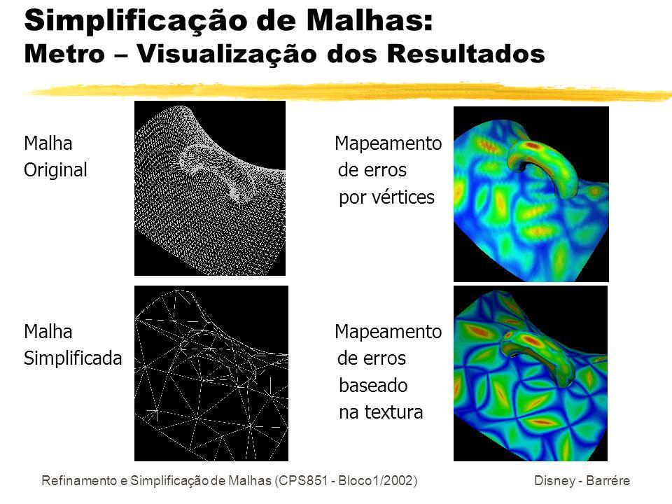 Simplificação de Malhas: Metro – Visualização dos Resultados
