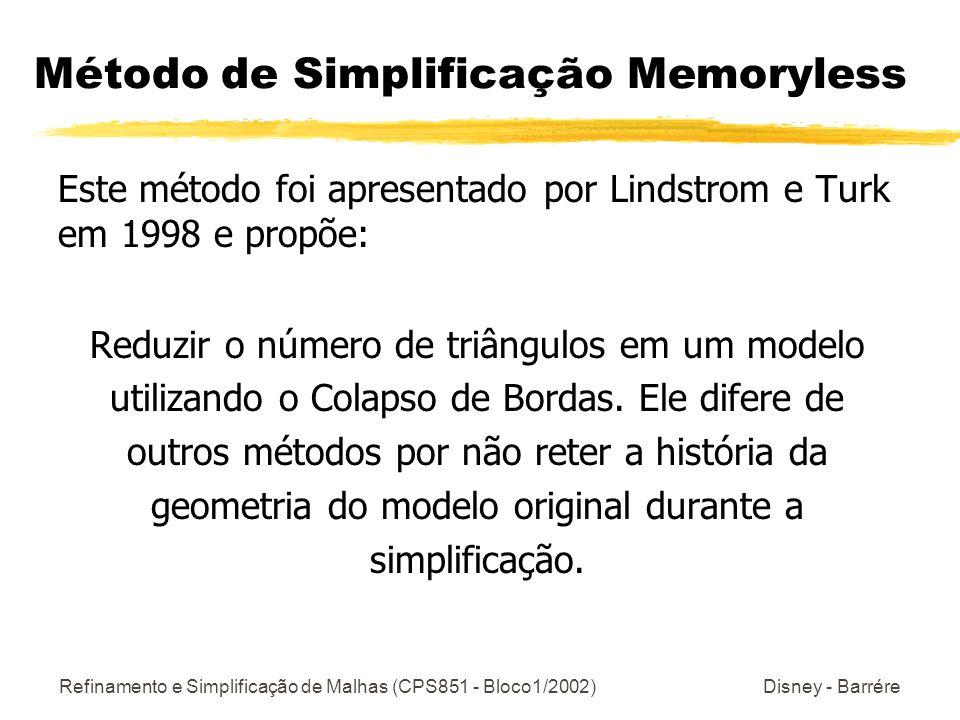 Método de Simplificação Memoryless
