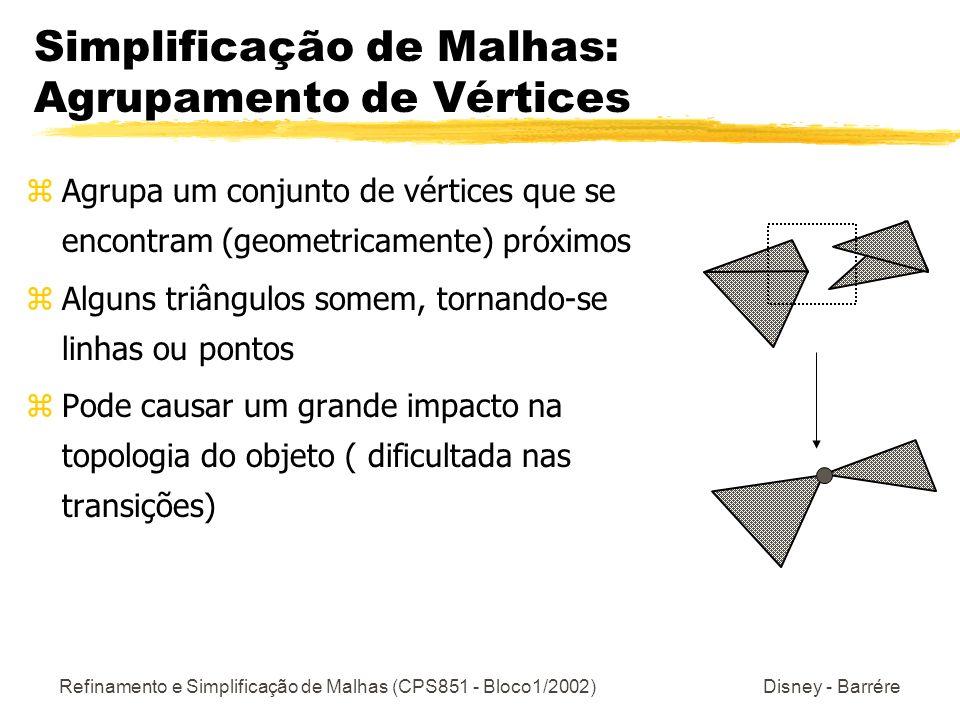 Simplificação de Malhas: Agrupamento de Vértices