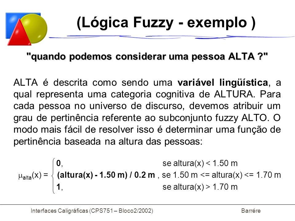 (Lógica Fuzzy - exemplo )
