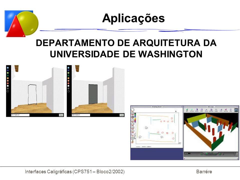 Aplicações DEPARTAMENTO DE ARQUITETURA DA UNIVERSIDADE DE WASHINGTON