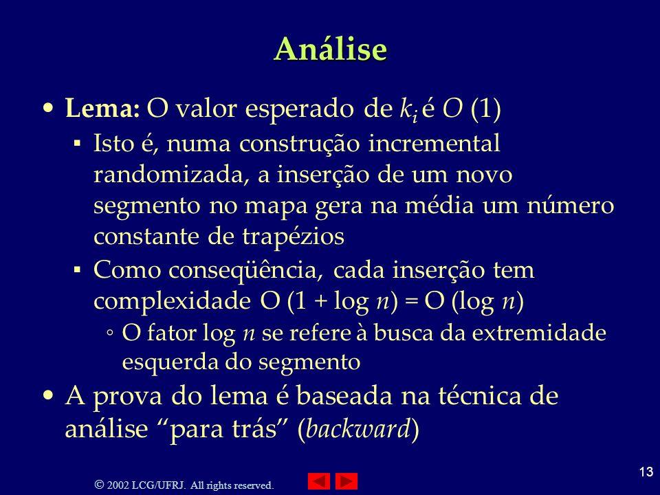 Análise Lema: O valor esperado de ki é O (1)