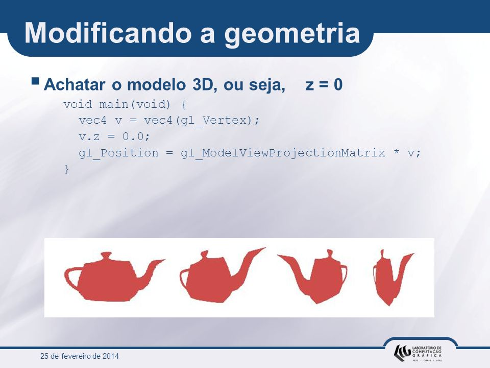 Modificando a geometria