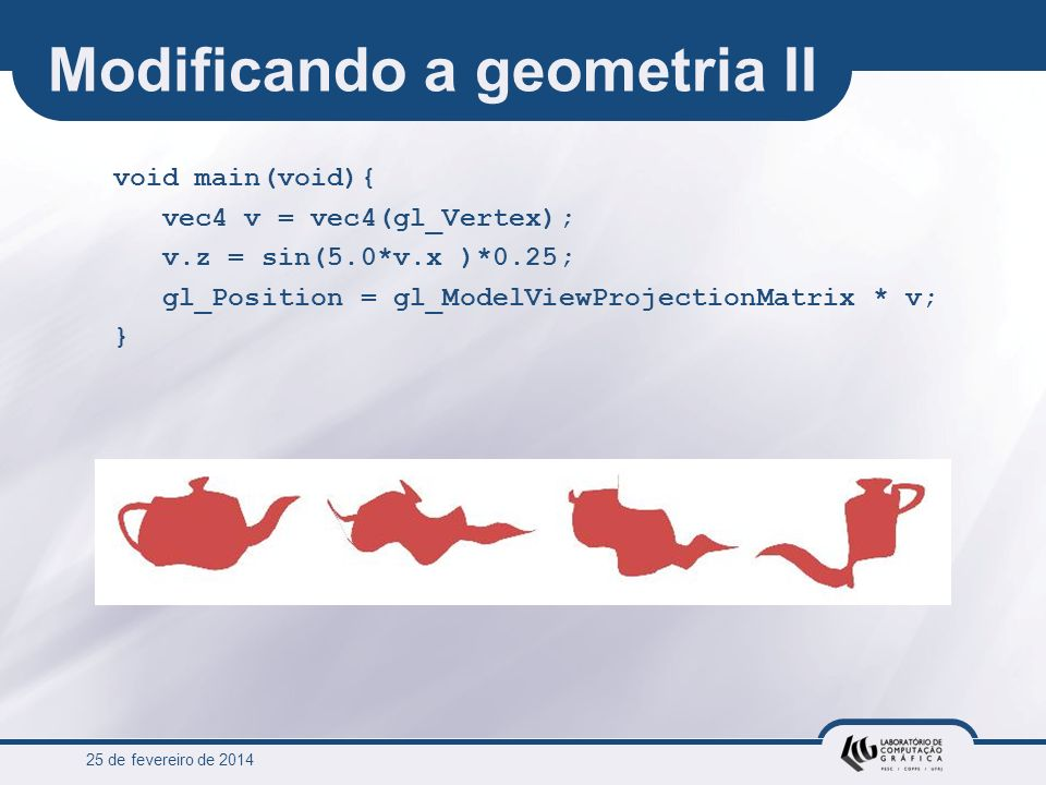 Modificando a geometria II