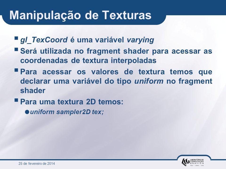 Manipulação de Texturas