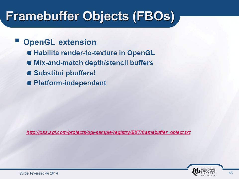 Framebuffer Objects (FBOs)