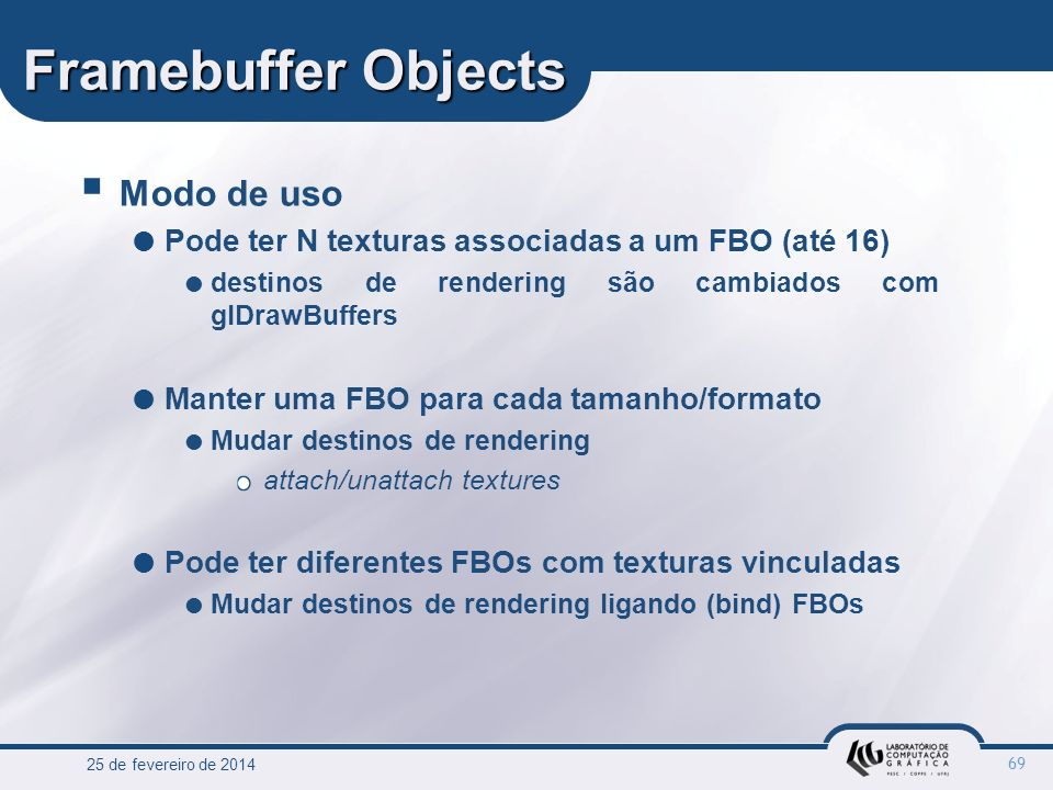 Framebuffer Objects Modo de uso