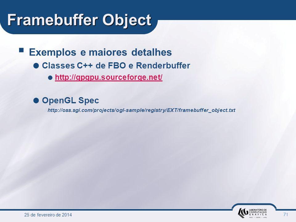Framebuffer Object Exemplos e maiores detalhes