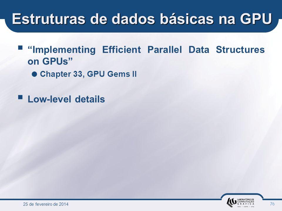 Estruturas de dados básicas na GPU