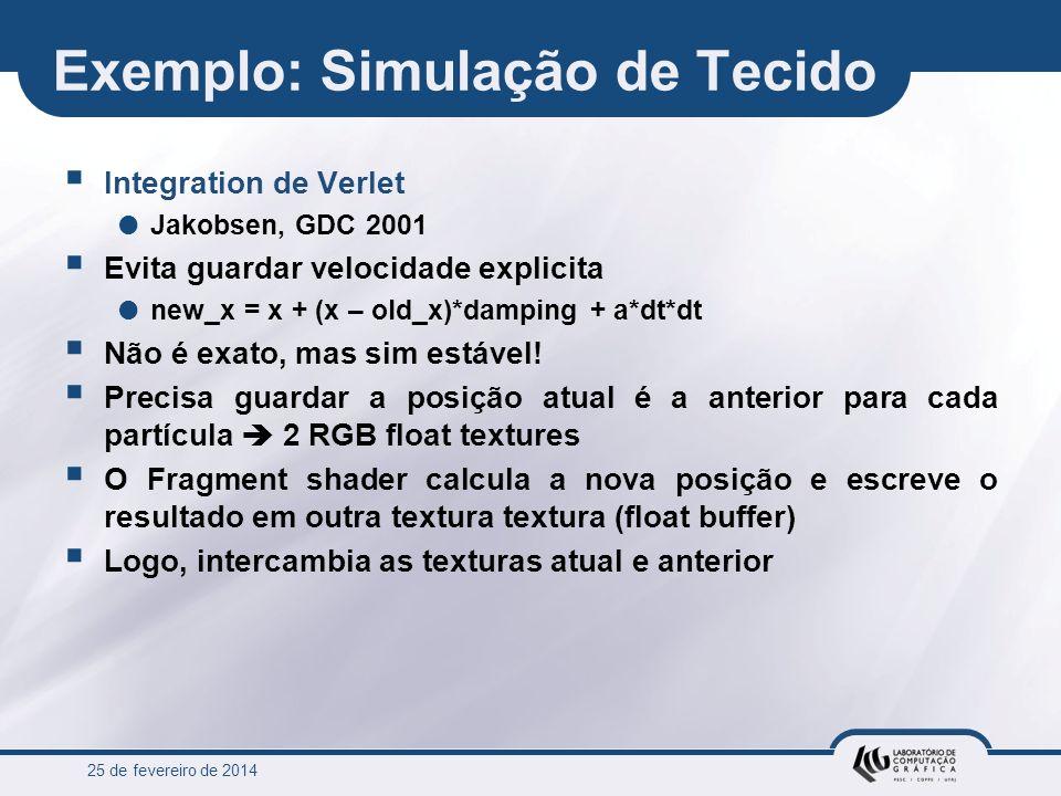 Exemplo: Simulação de Tecido
