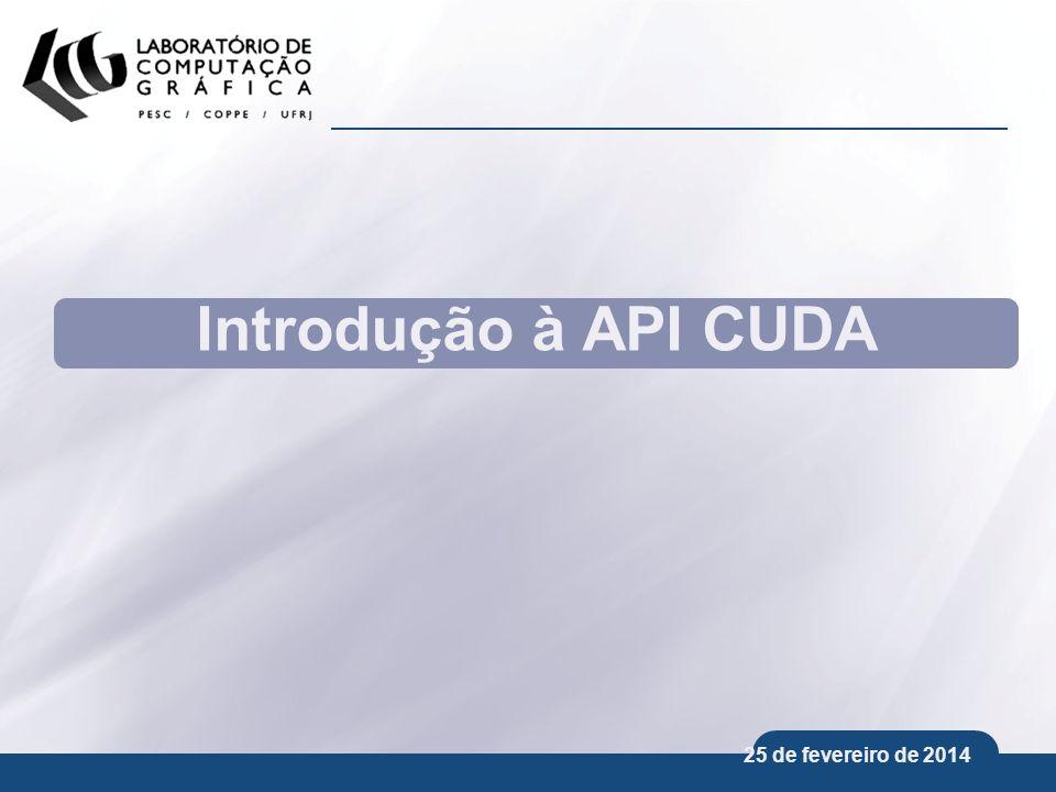 Introdução à API CUDA 25 de março de 2017