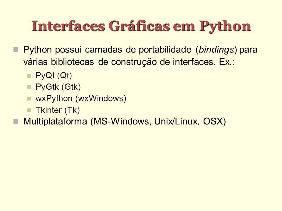 Interfaces Gráficas em Python
