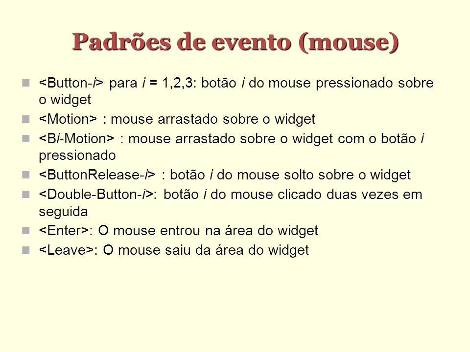 Padrões de evento (mouse)