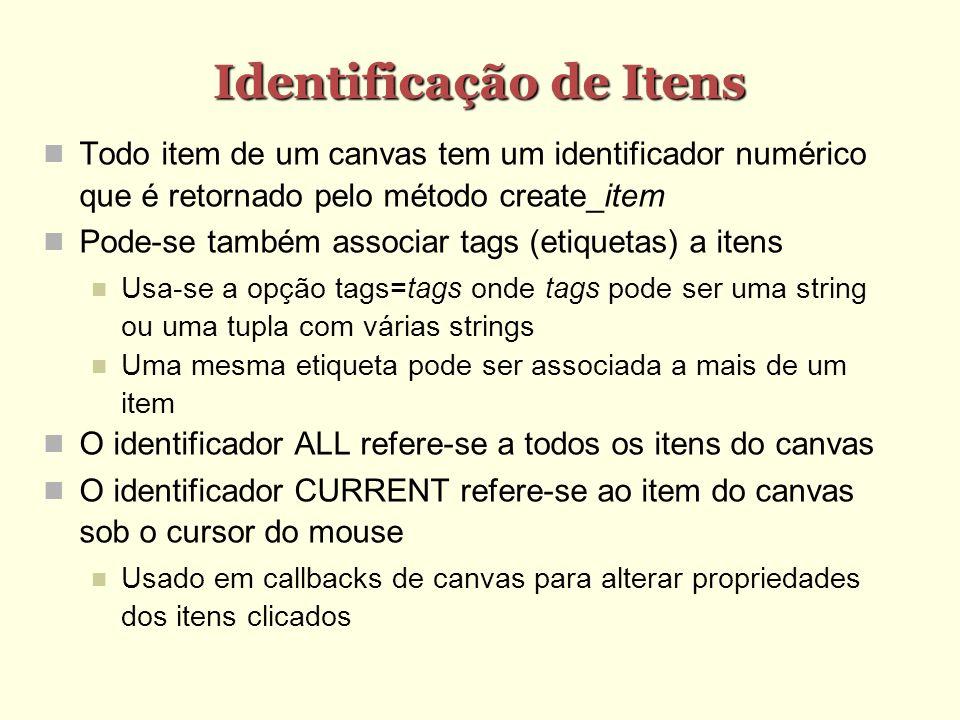 Identificação de Itens