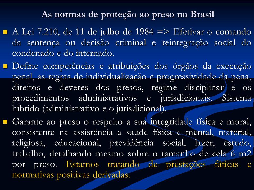 As normas de proteção ao preso no Brasil