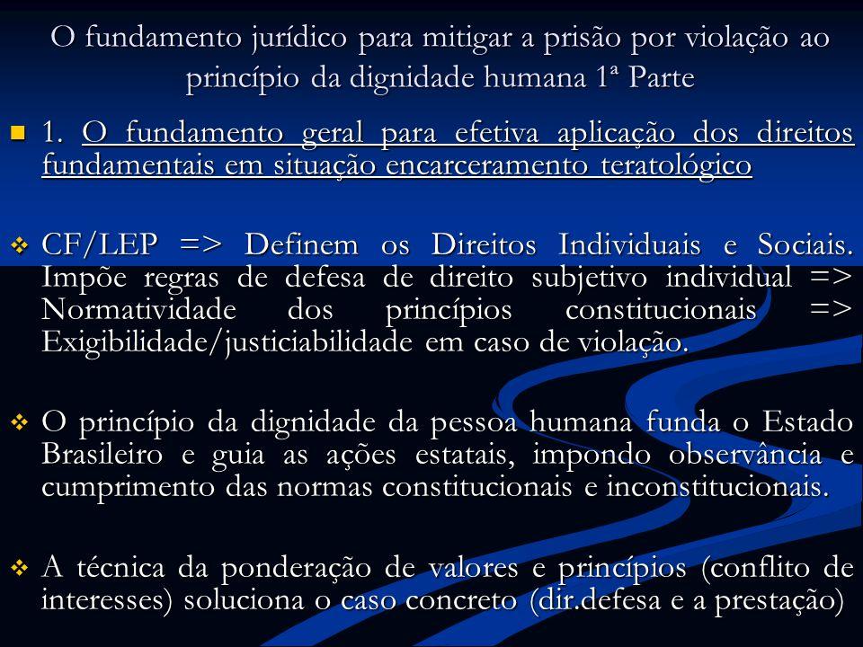 O fundamento jurídico para mitigar a prisão por violação ao princípio da dignidade humana 1ª Parte